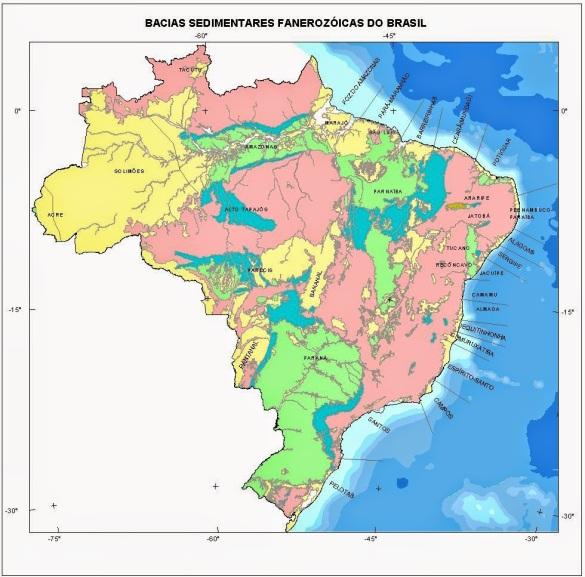 mapa geologico do brasil